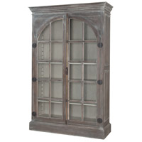 Manor Grey Stain and White Wash and Manor Grirge Display Cabinet, Arched Door