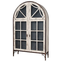 Italian Antique Smoke with Crossroads European White Display Cabinet