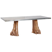 Teak Root 84 X 42 inch Natural Pedestal Dining Table