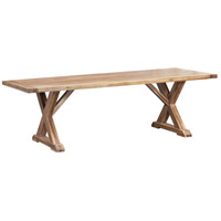 The Grove 96 X 40 inch Euro Teak Oil Outdoor Trestle Table