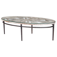 Farmhouse 54 X 26 inch Weathered Grey with White Coffee Table, Oval