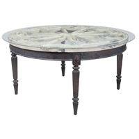 Artifacts 60 X 60 inch Vintage Bouleau Blanc and Heritage Grey Stain Dining Table Home Decor, Round