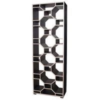 Guildmaster 6216501 Honeycomb 90 inch Champagne Gold with Grain De Bois Noir Room Divider