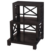 Bamboo 30 inch Grain De Bois Noir Step Shelf