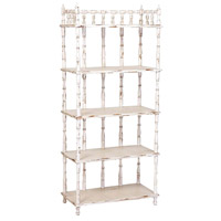 Tall Spindle 60 X 30 X 15 inch Signature Antique White Shelf