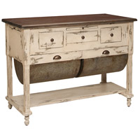Guildmaster 6316001 Possum Belly Crossroads European White with Heritage Light Grey Kitchen Island