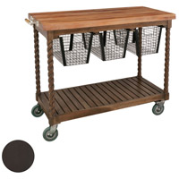 Guildmaster 6317003AS Teak Patio Antique Smoke Outdoor Serving Cart