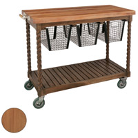 Guildmaster 6317003ET Teak Patio Euro Teak Oil Outdoor Serving Cart