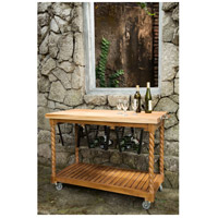 Guildmaster 6317003ET Teak Patio Euro Teak Oil Outdoor Serving Cart alternative photo thumbnail