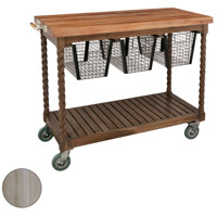 Guildmaster 6317003HT Teak Patio Henna Teak Outdoor Serving Cart