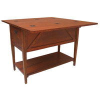 Guildmaster 635001G Workshop Handpainted Woodtone Kitchen Island