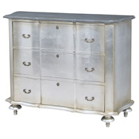 Duchess Antique Silver Leaf and Smoke Chest, Petit