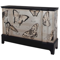 Basil Cottage Grain De Bois Noir with Silver Leaf Chest