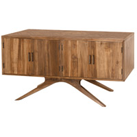 Teak Patio 60 X 30 inch Euro Teak Oil Outdoor Credenza, 4 Door