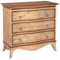 Heritage Artisan Stain and Deep Forest Stain Chest, 3 Drawer