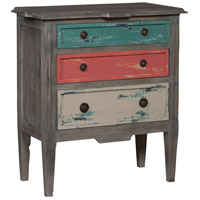 Chester House Waterfront Grey with White Wash Side Chest