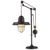 Farmhouse 32 inch Oiled Bronze Table Lamp Portable Light, Adjustable