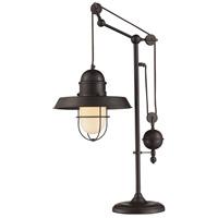 Guildmaster 65072-1-GM Farmhouse 32 inch Oiled Bronze Table Lamp Portable Light Adjustable