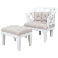Soho Grain De Bois Blanc Wing Chair and Ottoman