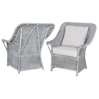 Retreat Waterfront Grey Stain and White Wash Chair Home Decor