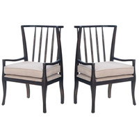 Wing Ash Black Stain Arm Chair, Set of 2