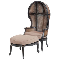 King Grain De Boir Noir with Woodlands Stain Balloon Chair and Ottoman