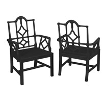 Furrow Grain De Bois Noir Cottage Chair