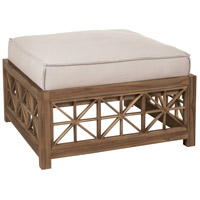 Teak Lattice 19 inch Burnt Umber Oil Outdoor Ottoman, Square