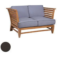 Galveston Pier Antique Smoke Outdoor Love Seat