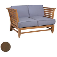 Galveston Pier Burnt Umber Outdoor Love Seat
