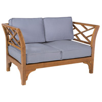 Patio Branch Euro Teak Oil Outdoor Love Seat