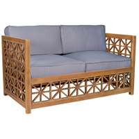 Vincent Lattice Euro Teak Oil Outdoor Love Seat