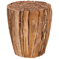 Teak Branch 17 inch Natural Outdoor Stool