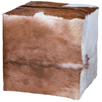 Guildmaster 6517516 Seating 18 inch Goat Hide Ottoman
