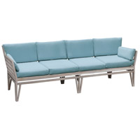 Guildmaster 6518004HT Newport Henna Teak Outdoor Sofa, 4-Seat photo thumbnail