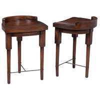 European Farmhouse 26 inch Deep Forest Stain Counter Stool