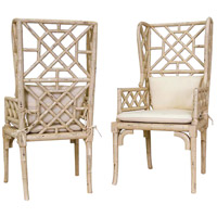 Bamboo Cream Wing Back Chair