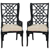 Bamboo Black Chair Home Decor
