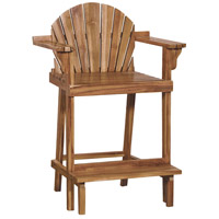 Lifeguard 40 inch Euro Teak Oil Counter Stool