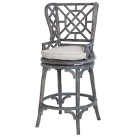 Bamboo 51 inch Heritage Grey Stain Wing Back Bar Stool