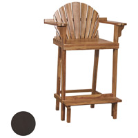 Lifeguard 44 inch Antique Smoke Outdoor Bar Stool