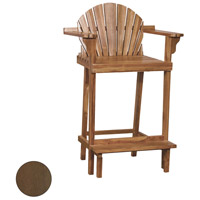 Lifeguard 44 inch Burnt Umber Outdoor Bar Stool