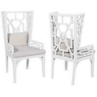Wing Grain De Bois Blanc Chair, Set of 2