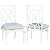 Guildmaster 6916521P Manor Grain De Bois Blanc Dining Chair, Set of 2