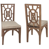 Teak Garden Burnt Umber Outdoor Dining Chair, Set of 2