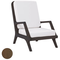 Teak Garden Burnt Umber Outdoor Lounge Chair