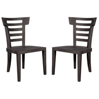 Teak Patio Antique Smoke Outdoor Morning Chair, Set of 2