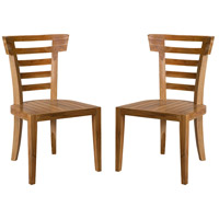 Teak Patio Euro Teak Oil Outdoor Morning Chair, Set of 2