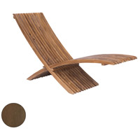 Teak Burnt Umber Outdoor Folding Lounge Chair