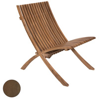 Teak Burnt Umber Outdoor Folding Chair